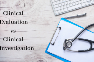 Clinical evaluation vs clinical investigation